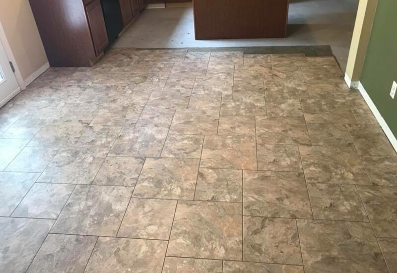 Different sizes of tile installed in St. Charles County, MO by Hometown Floors Online