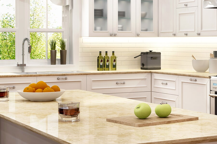 Beautiful textured countertops in Corning, NY from Brian's Flooring and Design Solutions