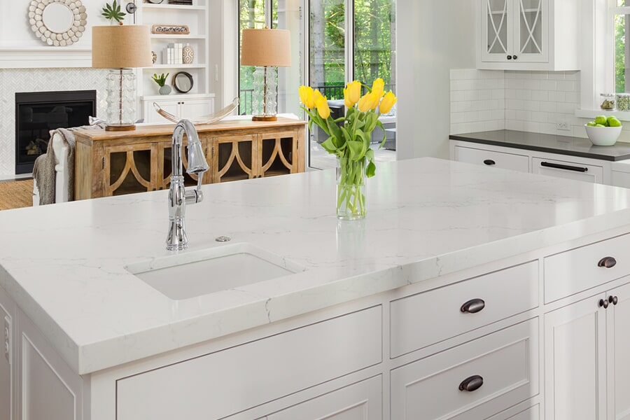 Modern countertops in Painted Post, NY from Brian's Flooring and Design Solutions