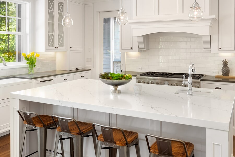 Countertop installation in Elmira, NY from Brian's Flooring and Design Solutions