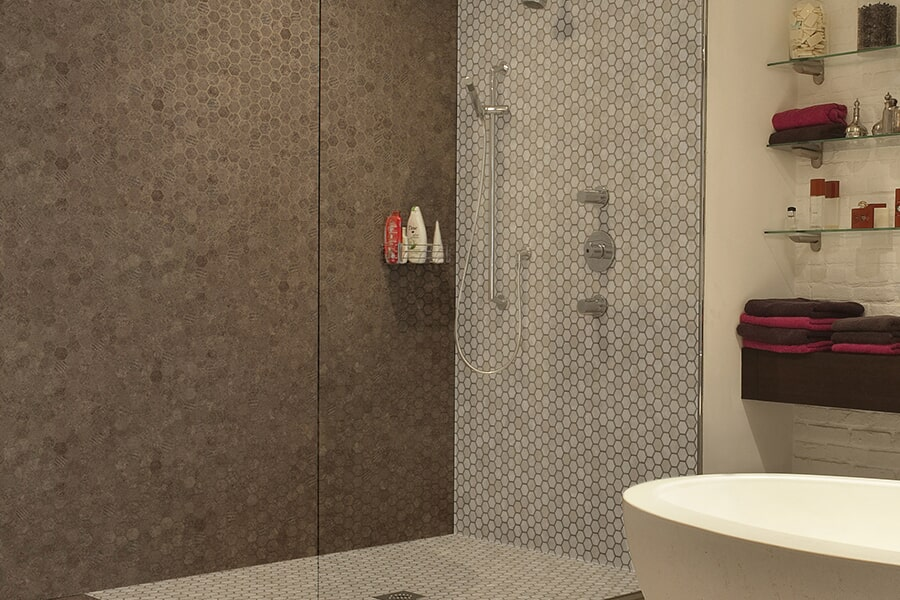 Modern tub & shower surrounds in Painted Post, NY from Brian's Flooring and Design Solutions
