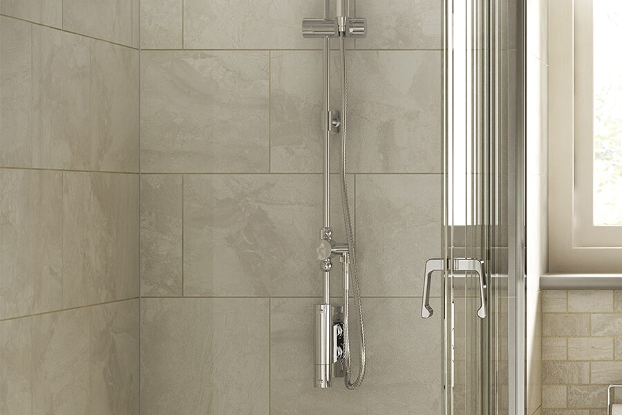 Beautiful textured tub & shower surrounds in Corning, NY from Brian's Flooring and Design Solutions