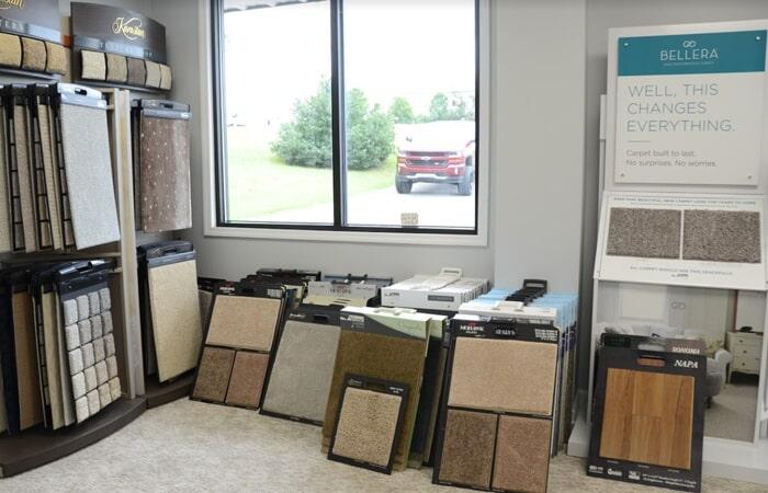 Showroom Carpet Flooring Samples