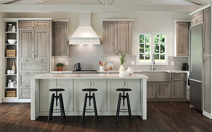 Rustic kitchen cabinets in Phoenix Metro from The Floor Store