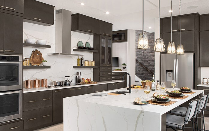 Dark kitchen cabinets in Phoenix Metro from The Floor Store