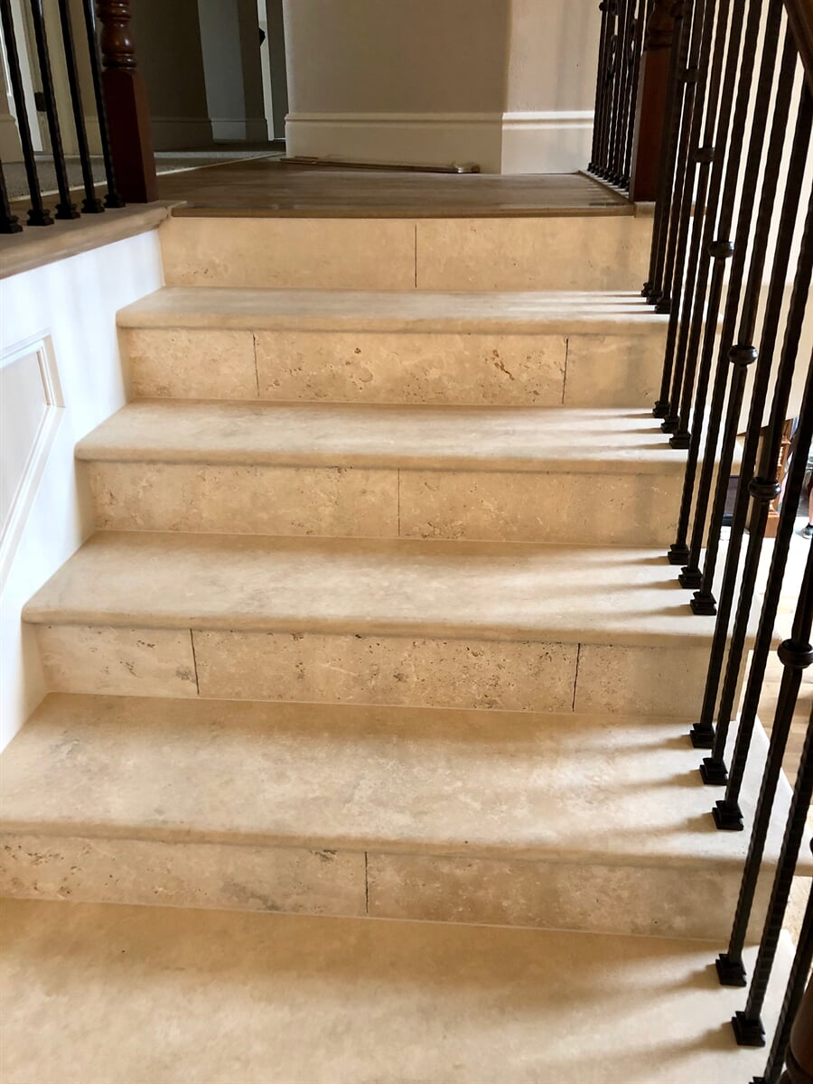 Travertine Slab Stairs