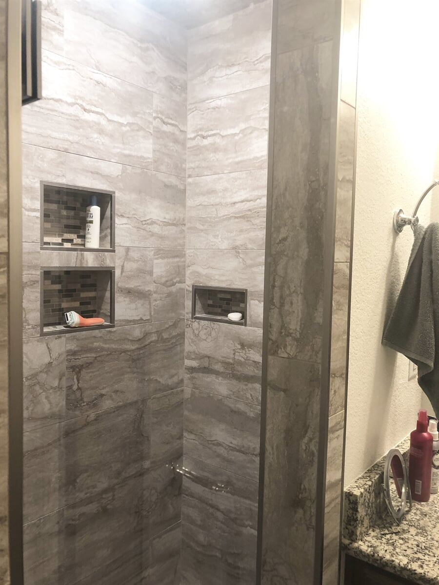 Bathroom remodel in Salado, TX by Surface Source Design Center
