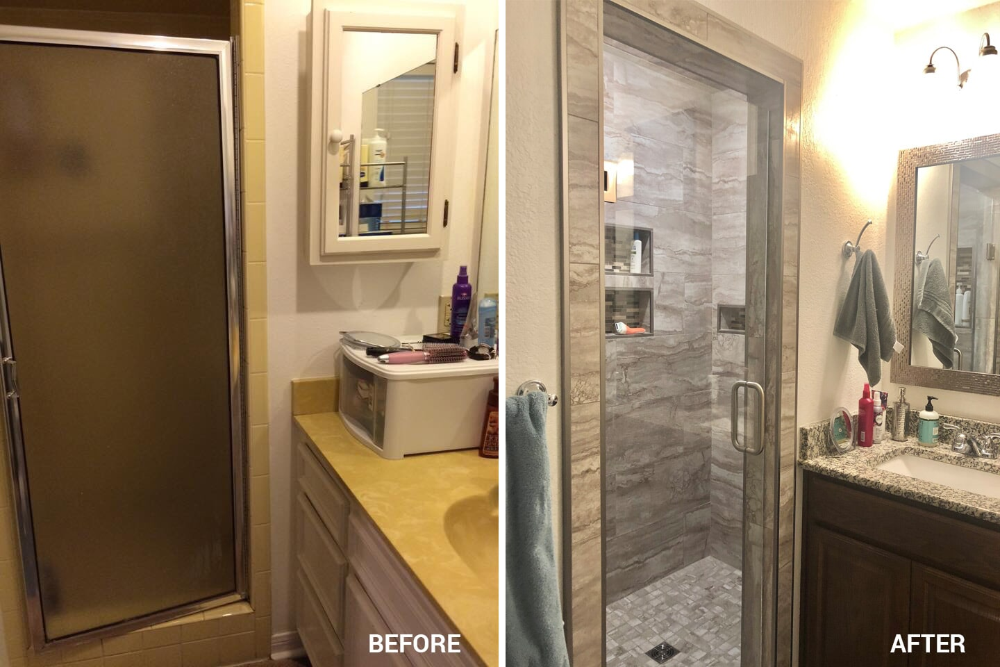 Bathroom remodel in Belton, TX by Surface Source Design Center