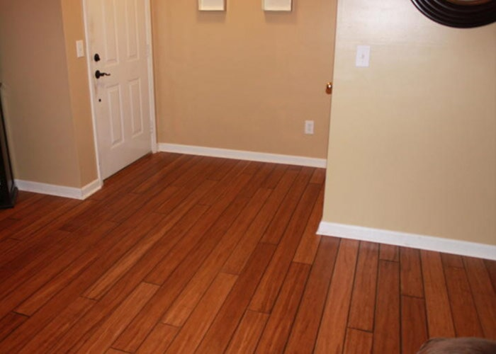 wood floor home sample