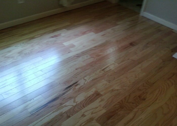 Wood floor bedroom sample