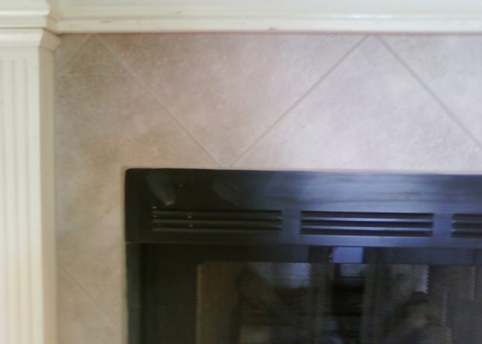 tile fireplace white sample