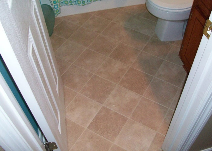 Light bathroom tile sample