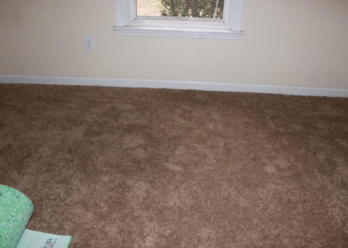 Dark carpet sample
