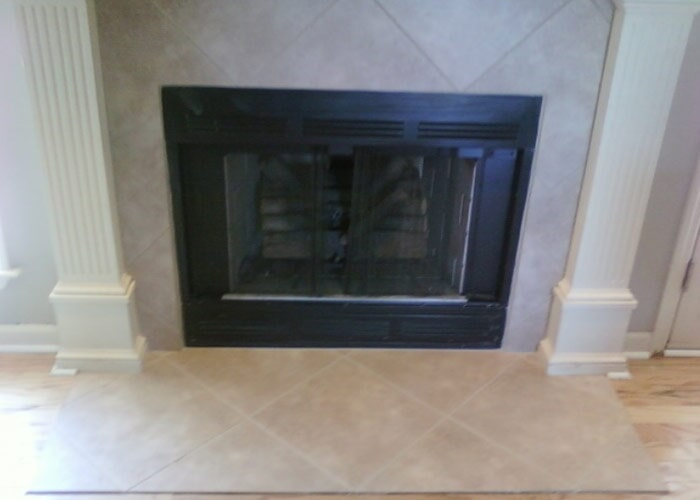 Fireplace light tile