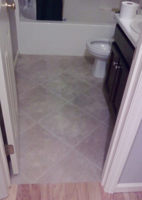 bathroom floor tile sample