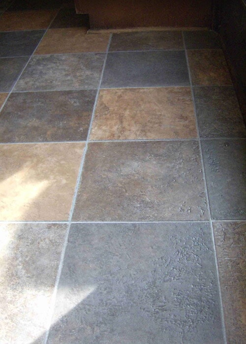 multicolored tile floor sample