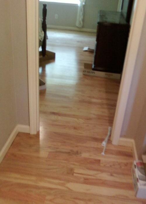 light wood hallway floor sample