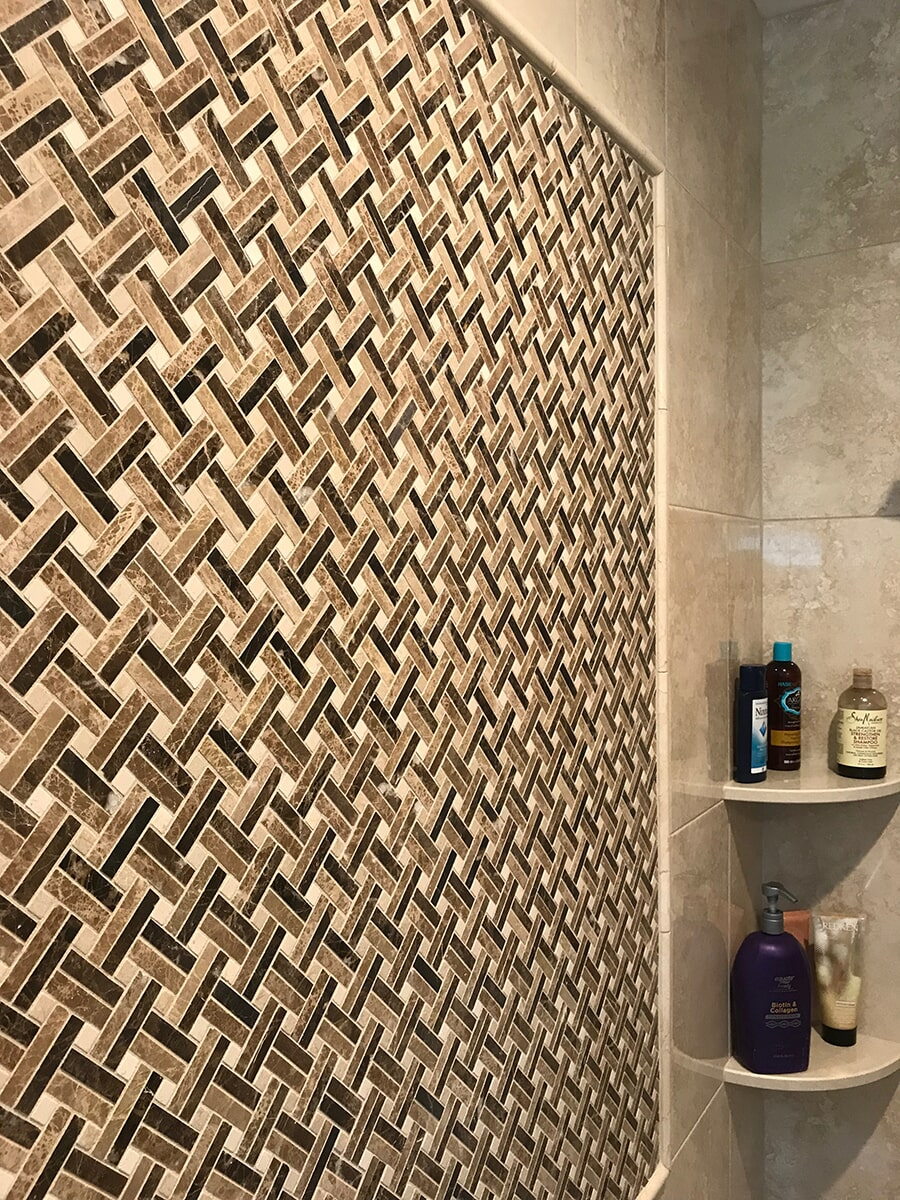 Modern weave pattern accent tile in Cromwell, CT from Custom Floors