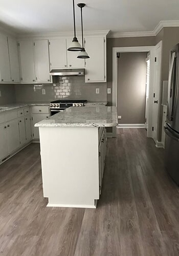Modern kitchen renovation in Kenly, NC from Richie Ballance Flooring & Tile