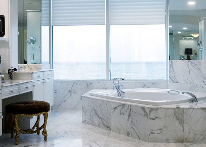Bathroom stone tile in Sarasota, FL from Floors and Walls of Distinction