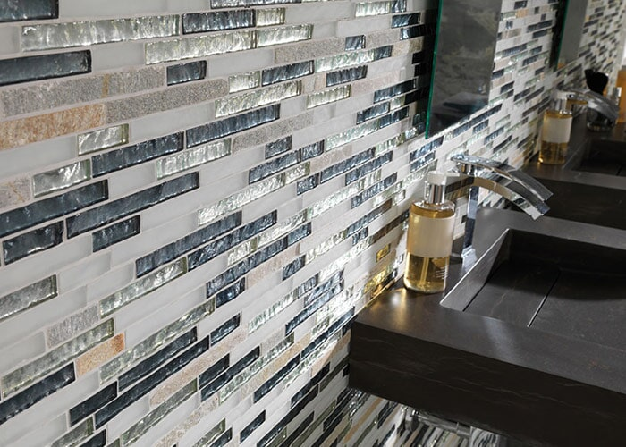 Glass tile in Siesta Key, FL from Floors and Walls of Distinction