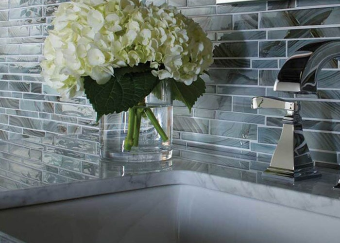 Glass tile in Casey Key, FL from Floors and Walls of Distinction