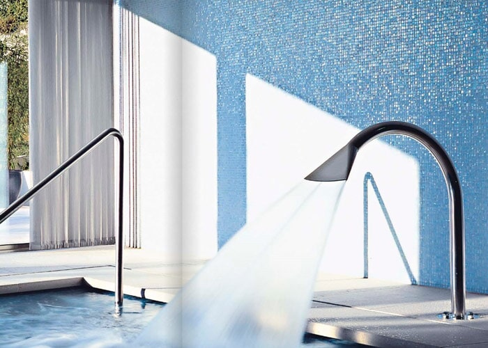 Pool glass mosaic in Sarasota, FL from Floors and Walls of Distinction