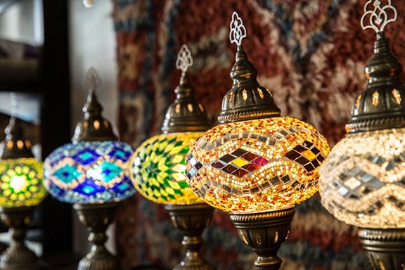 Handcrafted Mosaic Lamps from Turkey