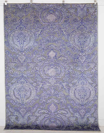 Silk & Wool Contemporary Rug Handmade in Pakistan