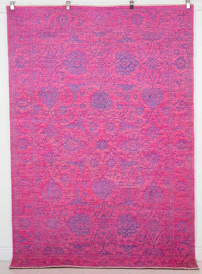 Silk & Wool Overdyed Rug Handmade in Pakistan