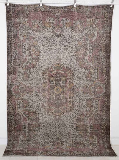 Vintage Overdyed Rug Handmade in Turkey