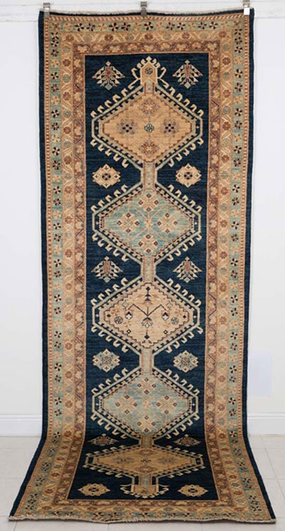 Traditional Serapi Design Runner Handmade in Pakistan