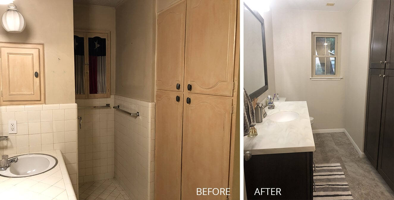 Bathroom remodel in Killeen, TX by Surface Source Design Center