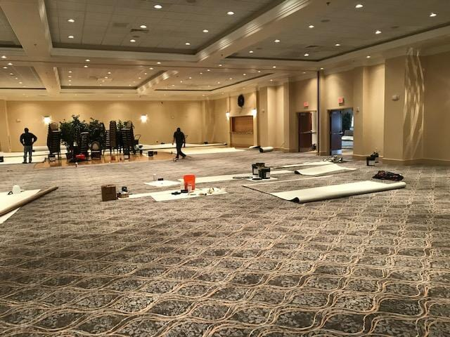 Commercial carpet installed in Springfield, PA from Pandolfi House of Carpets & Flooring