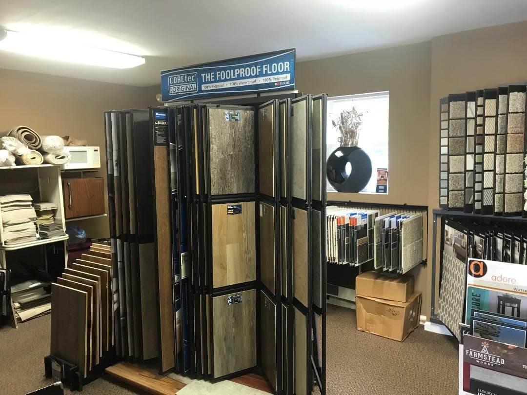Flooring options stacked high for your to choose for your Newton Square, PA home