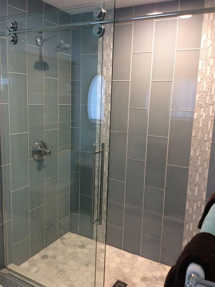 Custom tile shower in New River Valley, VA from The Floor Source