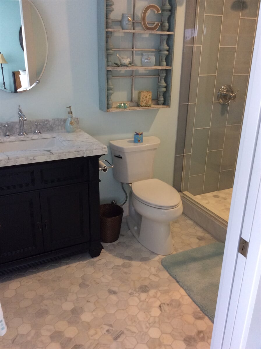 Beautiful bathroom remodel in New River Valley, VA from The Floor Source