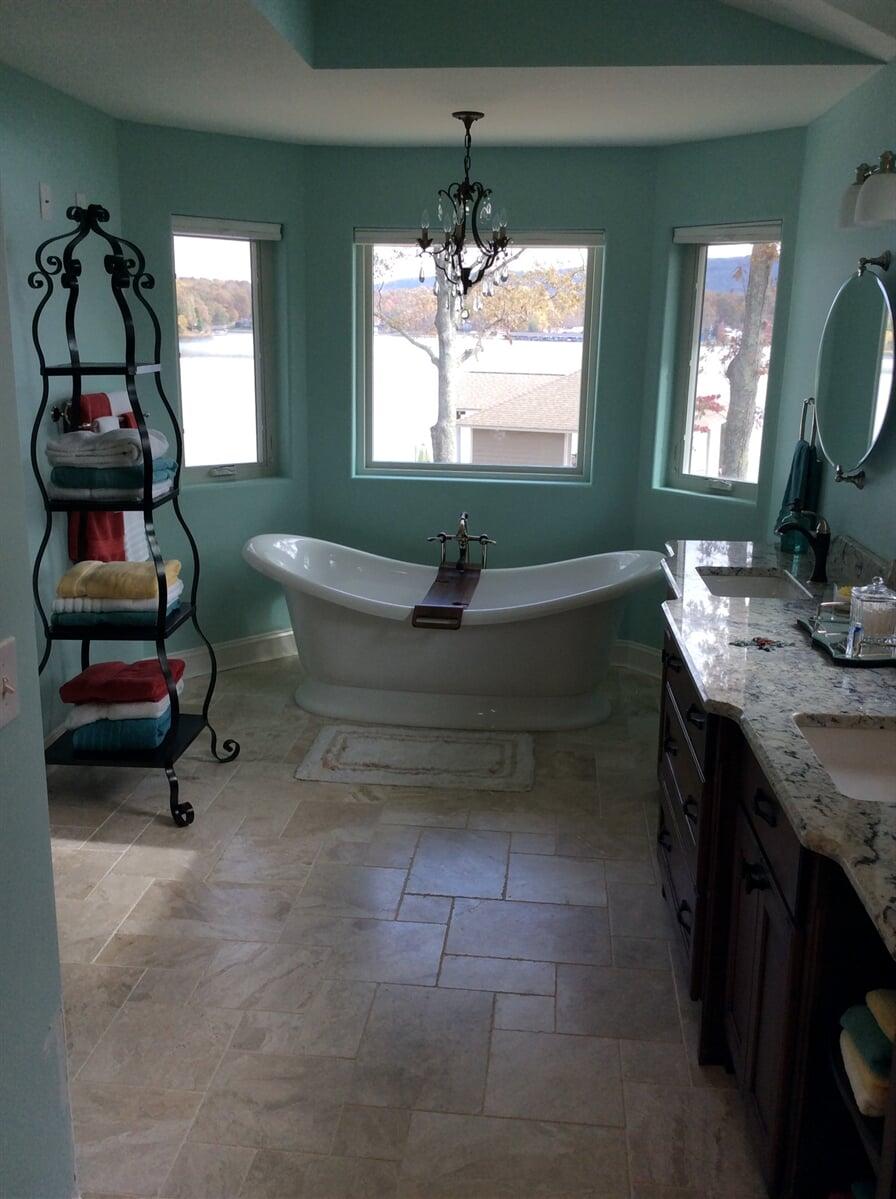 Bathroom remodel in Roanoke, VA from The Floor Source