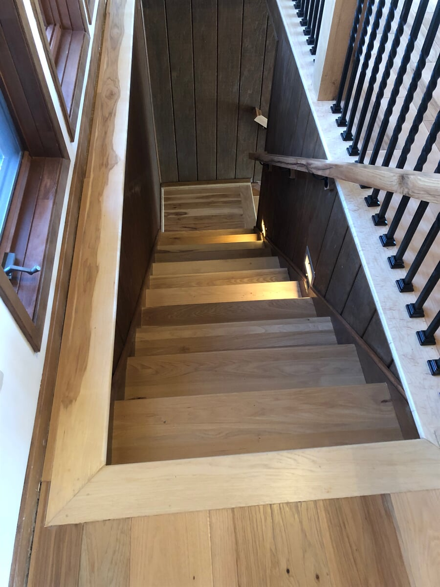 Hardwood stairs in New River Valley, VA from The Floor Source