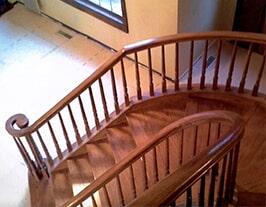 Custom stairway flooring from Artizan Flooring in Culver, IN
