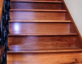 Hardwood Stairs installed by Artizan Flooring in Bremen, IN