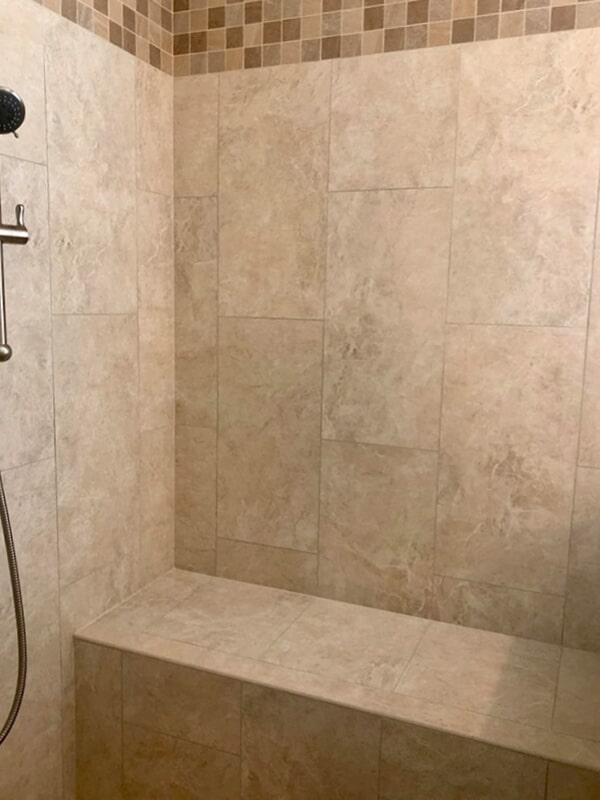 Built-in seat in walk-in shower