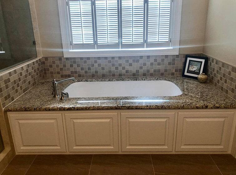 New tub with granite