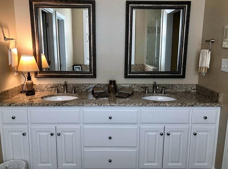 Bathroom remodeling granite countertop
