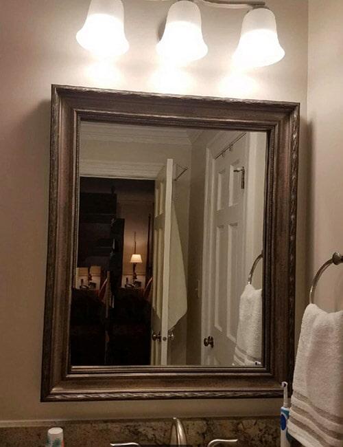 Custom bathroom vanity and lighting