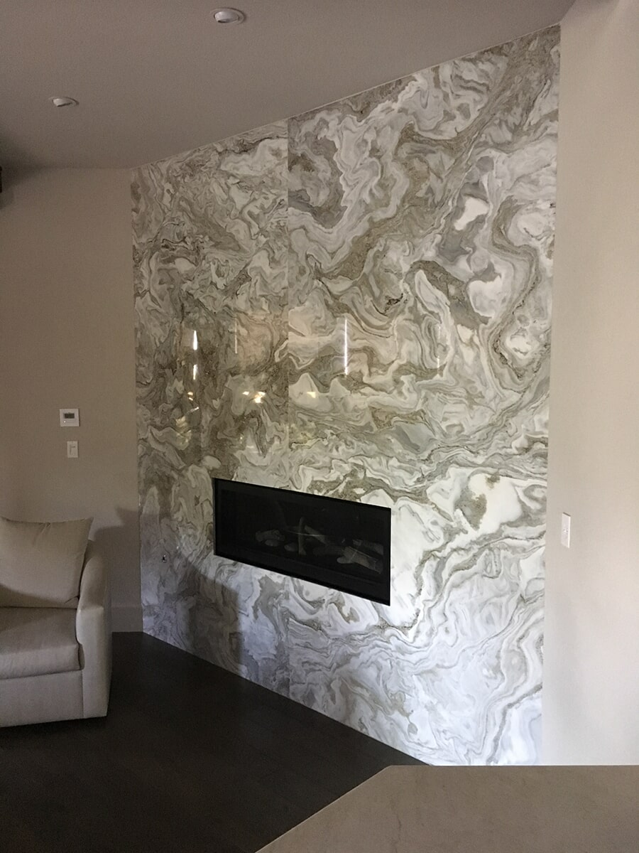 Fireplace surround in Las Vegas, NV from GoPro Interiors