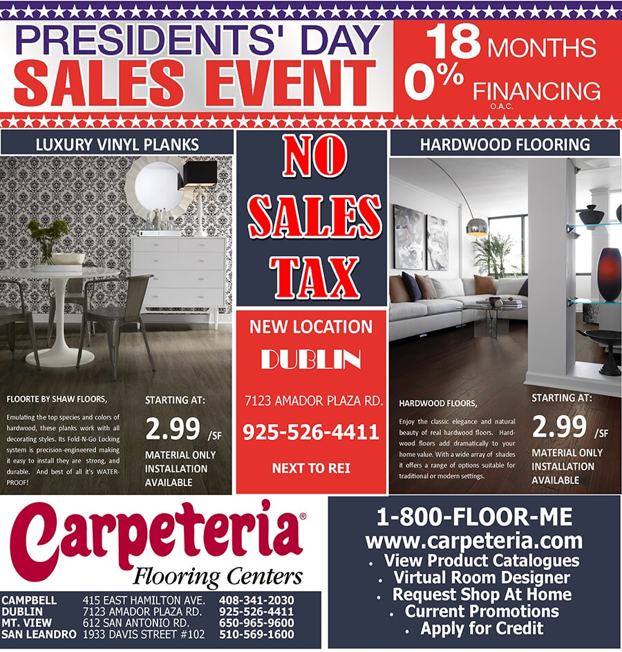 PRESIDENTS DAY BACK PAGE10.5X11 18 MONTH FINANCING