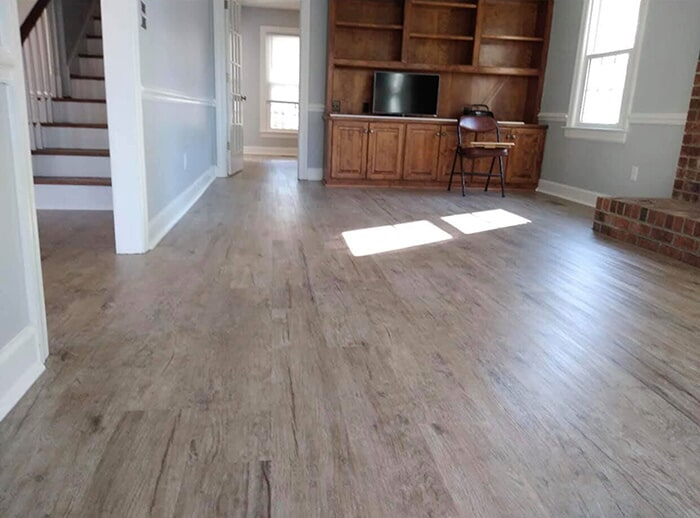 LVP in family room in Wilson, NC from Richie Ballance Flooring & Tile