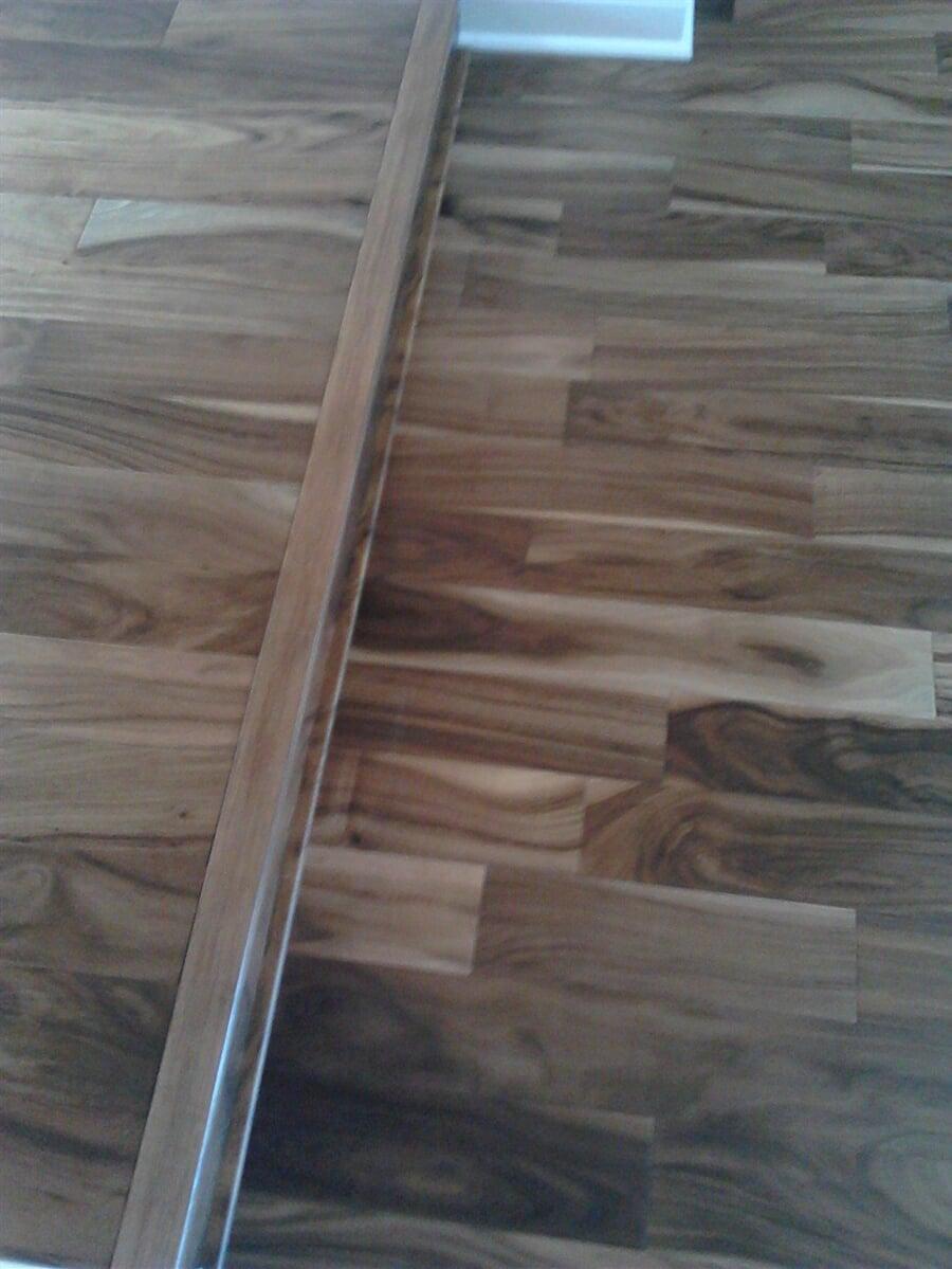 Multilevel wood-look laminate installation in Plantation, FL from Daniel Flooring