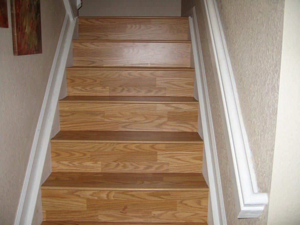 Laminate stair installation in Plantation, FL from Daniel Flooring